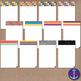 Summer Stripes, Polka Dot & Glitter Clip Art Post-its, Lab