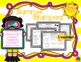 Summer Stumpers - 4th Grade Summer Math Reviews