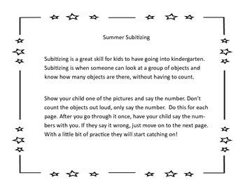 Summer Subitizing/Number Sets