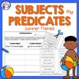 End of the Year Activity   Subjects and Predicates Summer-Themed