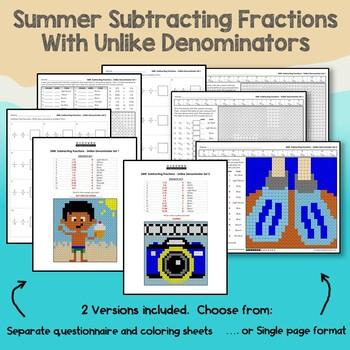 Summer Subtracting Fractions With Unlike Denominators