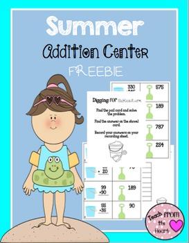 Summer Addition Center FREEBIE!