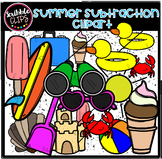 Summer Subtraction Clipart  (scribble clips)