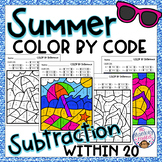 Summer Subtraction Color By Code