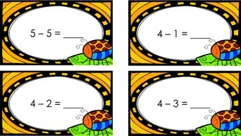 Summer Subtraction Facts 1-10