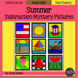 Summer Subtraction Mystery Pictures