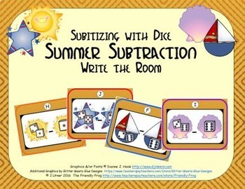 Summer Subtraction {Subitizing with Dice}