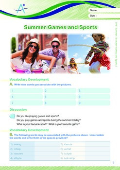 Summer - Summer Games And Sports - Grade 5