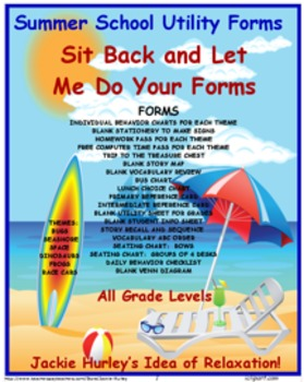 Summer, Summer School, Summer Forms and Charts