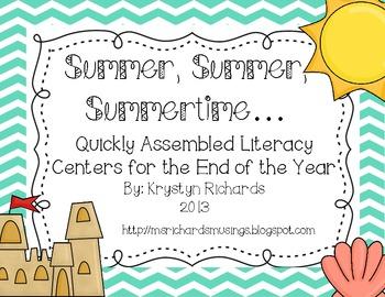 Summer, Summer, Summertime Quick Literacy Centers
