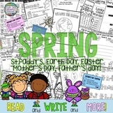 Fun, digital, printable literacy worksheets for Spring! K-1 +