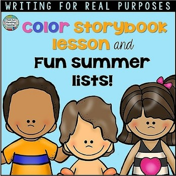 Summer Writing Lesson - Fun Summer Lists!