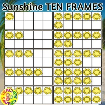 Summer Sun 10-frames Clipset Commercial and Personal Use
