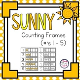 Summer Sun Counting Frames - Number Identification 1 - 5 | Weather Space