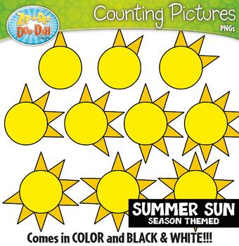 Summer Sun Counting Pictures Clipart {Zip-A-Dee-Doo-Dah Designs}