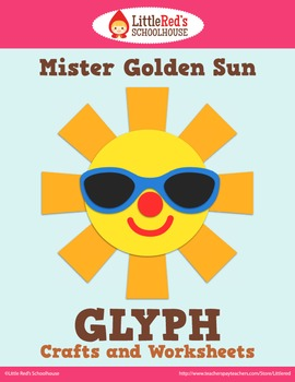 Summer Sun Glyph Craft and Worksheets
