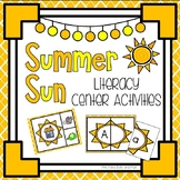 Summer Sun Literacy & Math Pack ~ Beginning Sounds, Counti