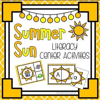 Summer Sun Literacy & Math Pack ~ Beginning Sounds, Counti