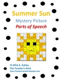 Summer Sun Mystery Picture Parts of Speech
