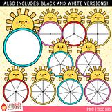 Summer Sun Spinners Clip Art