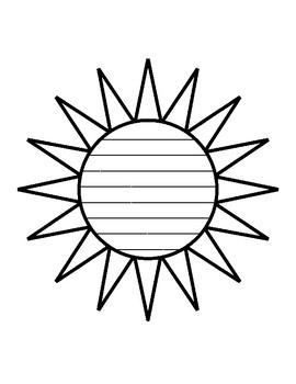 Summer sun writing paper sun template with lines writing paper sun maxwellsz