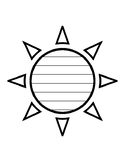 Summer Sun Writing Paper Sun Template With Lines Writing Paper Sun