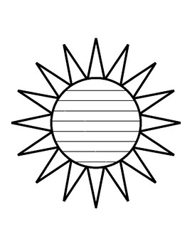 graphic regarding Printable Sun Template identify Summer season Solar Composing Paper Sunshine Template With Strains Producing Paper Sunlight