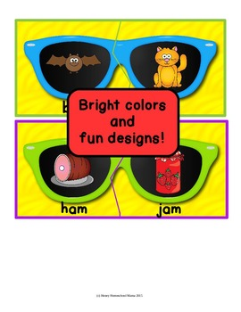 Summer Sunglasses Rhyming Puzzles - 26 Hot Puzzles for Fun and Learning