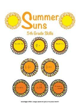 5th Grade Common Core Math - Summer Suns