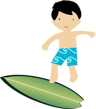 9 Summer Surf boys vector, clip art, Surfboards,