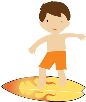 9 Summer Surf boys vector, clip art, Surfboards,