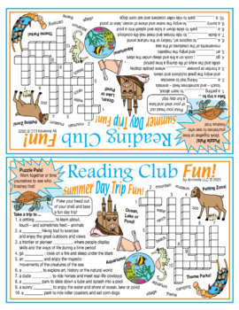 Bundle: Summer Day Trip Crossword Puzzle, Log, and Certificate
