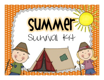 Summer Survival Kit {Camping Theme}