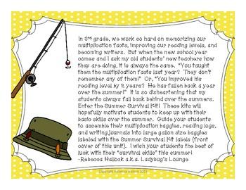 Summer Survival Kit {Camping Theme}