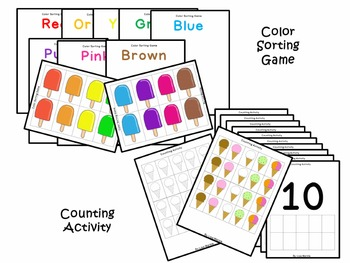 Summer Sweet Treats Preschool Math and Literacy Skills