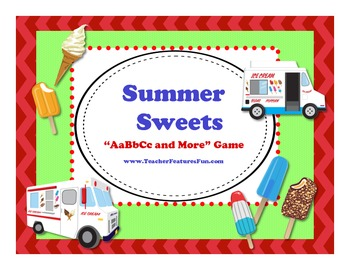 "Yummy Sweets ""AaBbCc and More"" Game"