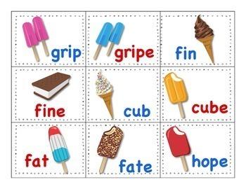 "Ice Cream Truck ""Short Vowels & Magic E"" Game"