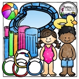 Swimming Clipart (Summer Clipart)