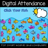 Summer Swimming Fishies Digital Attendance (Smart Boards a