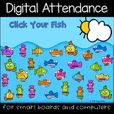 Summer Swimming Fishies Digital Attendance (Smart Boards and Computers)