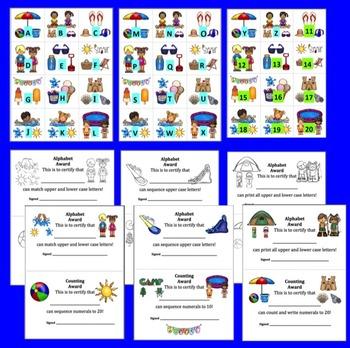 Summer Literacy Centers FREEBIE: Summer Alphabet & Counting-Summer School