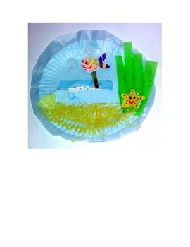 Summer Swimming Puppet Fish Marine Diorama