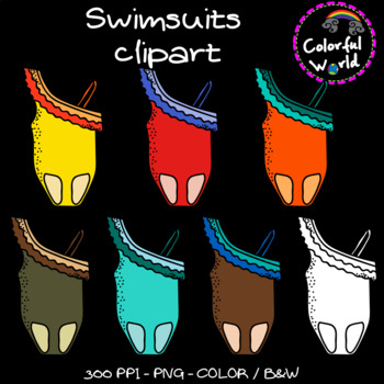 Summer - Swimsuits clipart