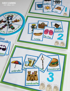 Syllable Counting Activities - Summer: Syllable Action Spinner and Sorting Mats