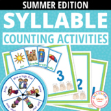 Syllable Counting Activities - Summer: Syllable Action Spi