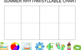 Summer Syllable/Rhythm Interactive Chart- Smartboard