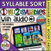 Summer Syllable Sort - 1 Syllable vs 2 Syllables  Distance