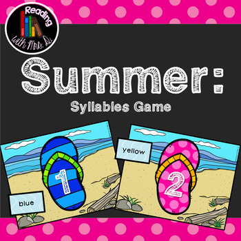 Summer Syllable Sorting Card Game