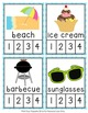 Summer Syllables Count and  Clip Cards