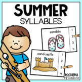 Summer Syllables Clip Cards